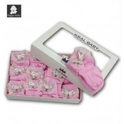 Chaussettes bébé Kral Baby Rose Papillon Happy Baby