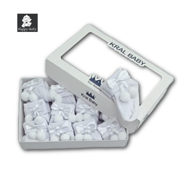 Chaussettes bébé Kral Baby Blanc Noeud Happy Baby