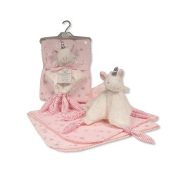 Couverture + Doudou GP-25-0973P ROSE