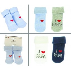 Chaussettes bébé J'AIME MAMAN/PAPA 43893164