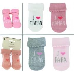Chaussettes bébé J'AIME MAMAN/PAPA 43892864