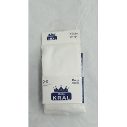 COLLANTS KRAL BABY BLANC