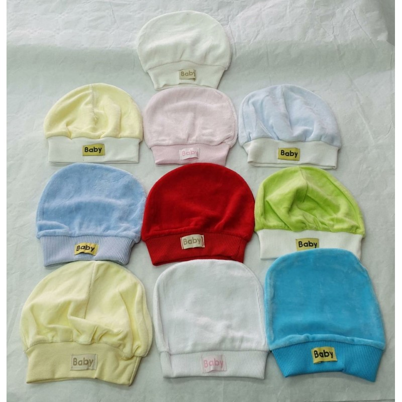 Bonnet BABY VELOURS UNIS HB