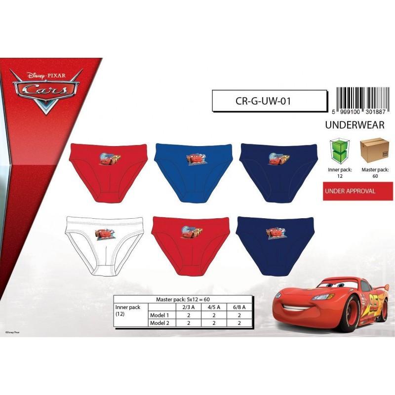 Pack de 3 Slips CARS CRGUW01