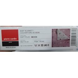 Couverture 80 X 110 cm Pierre Cardin MOON ROSE