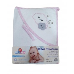 Cape de Bain NUAGES H101 BLANC/ROSE