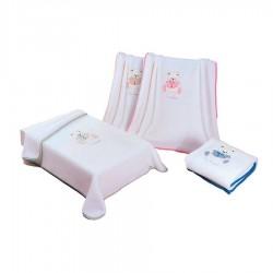 COUVERTURE 80x110 NANCY 545 ROSE PIERRE CARDIN ESPAGNE