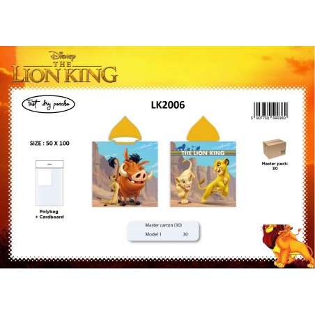 Poncho MICRO LE ROI LION LK2006