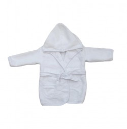 Peignoir Blanc Uni 5 A 8 ANS